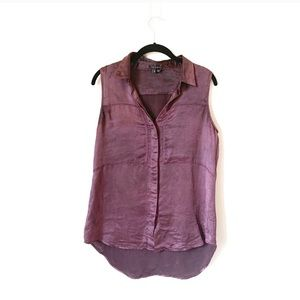 Theory button up tank